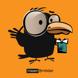 Happy Birthday smile birds card Stock Image
