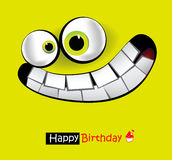 Happy Birthday smile card Royalty Free Stock Images