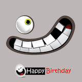 Happy Birthday smile is very funny. Card Royalty Free Stock Photo