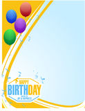 Happy birthday stamp balloons card. Illustration design graphic Stock Photos