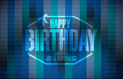 Happy birthday stamp binary background Royalty Free Stock Images