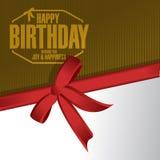 Happy birthday stamp gift illustration design Stock Photo