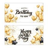 Happy birthday Star heart balloon Royalty Free Stock Image