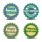 Happy Birthday stickers Stock Photo