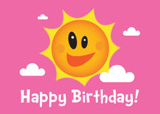 A Happy Birthday Sun Illustration Stock Photos