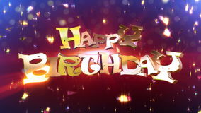 Happy Birthday Suprise Animation stock video footage