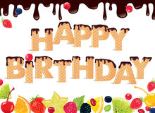 Happy Birthday sweet Banner Royalty Free Stock Photography