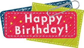 Happy Birthday Tag Royalty Free Stock Photos