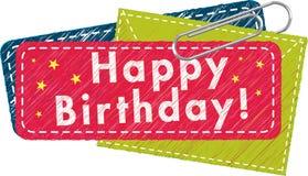 Happy Birthday Tag Royalty Free Stock Photos
