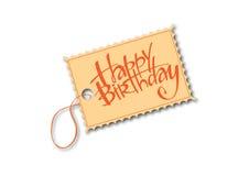 Happy Birthday tag Stock Photos