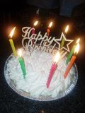 Happy birthday tart royalty free stock photography