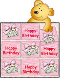 Happy birthday with teddy bear Stock Photo