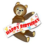 Happy birthday teddy bear Royalty Free Stock Photo