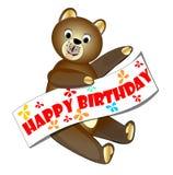 Happy birthday teddy bear royalty free stock photo