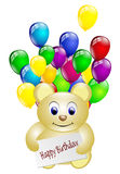 Happy birthday teddy bear isolated Royalty Free Stock Image