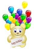 Happy birthday teddy bear isolated Royalty Free Stock Image