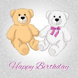 Happy birthday teddy bear. Royalty Free Stock Photos