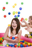Happy birthday of teenager with friend. Stock Image