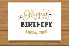 Happy Birthday. Template for birthday cards. Hand lettering. Happy Birthday. Template for birthday cards. Hand lettering Stock Image