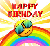 Happy birthday template vector illustration