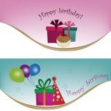 Happy birthday templates Royalty Free Stock Photos