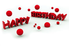 Happy birthday text Royalty Free Stock Images