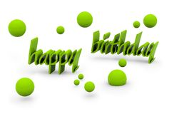 Happy birthday text Royalty Free Stock Photos