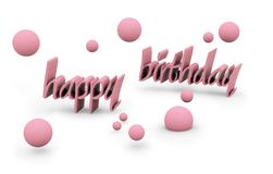 Happy birthday text. Happy birthday on white background. FIND MORE texts in my portfolio Royalty Free Stock Photos
