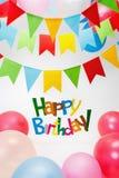 Happy Birthday text Royalty Free Stock Image