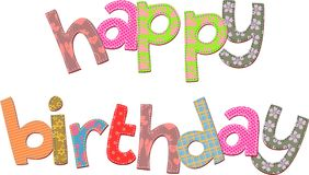 Happy Birthday Text Clip Art Stock Photography