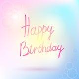 Happy birthday text Royalty Free Stock Photography