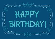 Happy Birthday text for greeting cards. Hand drawn font for your business, greetings cards, poster, a party vector illustration
