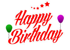 Happy birthday. BIrthday text for birthday greetings Royalty Free Stock Images