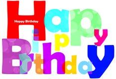 Happy birthday text Royalty Free Stock Photo