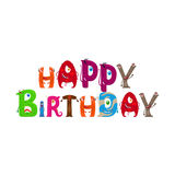 Happy Birthday text with Monsters letters Stock Photography