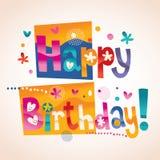 Happy Birthday text Stock Photo
