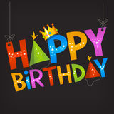Happy birthday text sign Stock Photography
