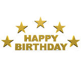 Happy birthday. Text with stars around Royalty Free Stock Images