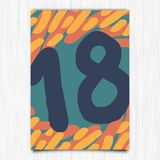 Happy birthday 18th years greeting card Stock Images