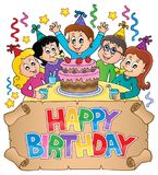 Happy birthday thematics image 6 Royalty Free Stock Images