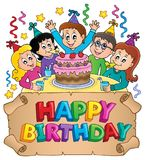 Happy birthday thematics image 7 Royalty Free Stock Image