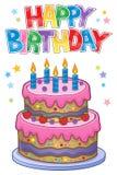 Happy birthday thematics image 1 Stock Photo