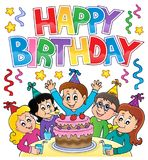 Happy birthday thematics image 4 Royalty Free Stock Image