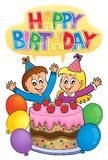 Happy birthday thematics image 2 Royalty Free Stock Photography