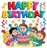 Happy birthday thematics image 5 Stock Photos