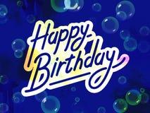 Happy Birthday Theme. Happy birthday text with bubbles Royalty Free Stock Photography