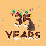 Happy Birthday thirty five year Royalty Free Stock Image