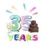 Happy Birthday thirty five year. Stock Photo