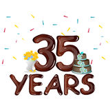 Happy Birthday thirty five 35 year. Vector illustration Royalty Free Stock Images