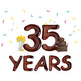 Happy Birthday thirty five 35 year. Vector illustration Stock Image
